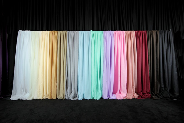 Variety of color drapes