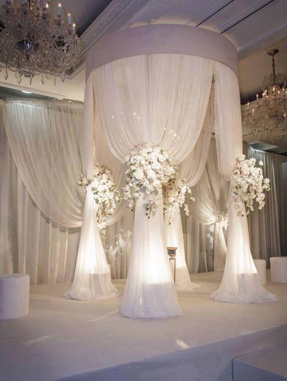 round drape canopy
