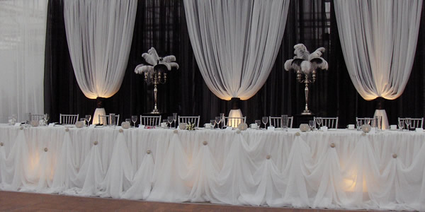 Cinderella skirt head table