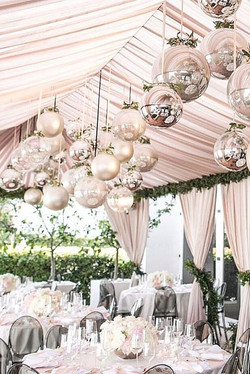 Draped ceiling tent