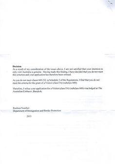 แก้ปัญหาวีซ่าถูกปฏิเสธ Australia