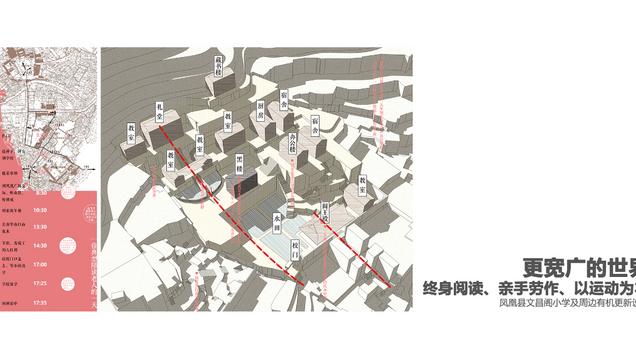 更宽广的世界,终身阅读、亲手劳作、以运动为本——凤凰县文昌阁小学及周边有机更新设计 Organic update design of Wenchangge Primary School and surrounding phoenix county