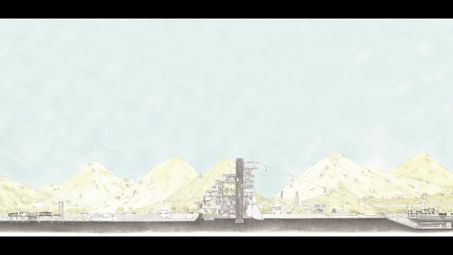 縱谷上的製造廠 - 機〝構〞型式下之類生命形態的延伸   The new ecosystem in Huadong Valley