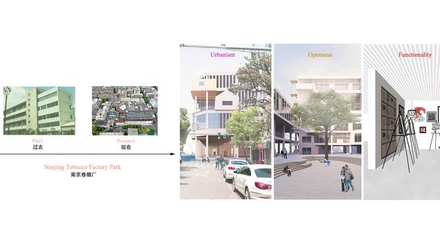 跨界——城市硅巷建设背景下的南京卷烟厂更新设计 Cross boundary——Urban Regeneration of Nanjing Tobacco Factory Park under the background of city silicon alley construction