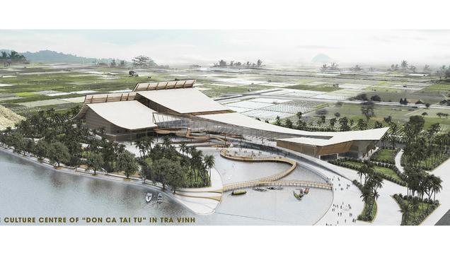 """The culture centre of """"Don ca tai tu"""" in Tra Vinh"""
