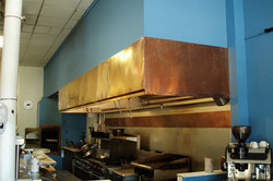 copper restaurant exhaust hood