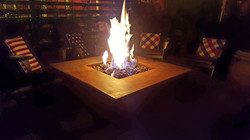 rusted steel firepit