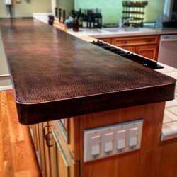 Textured Patina-d Copper Countertop