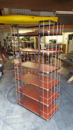 custom copper rolling shelf
