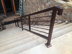 painted steel railing