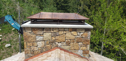 copper standing seam chimney cap