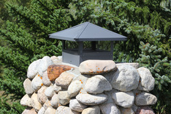 sheet metal chimney cap