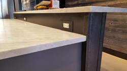 patinad steel counter base