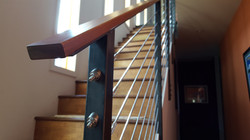 patinad steel railing