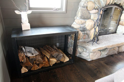 steel firewood storage