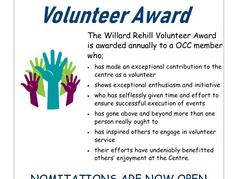 Willard Rehill Volunteer Award Nominations