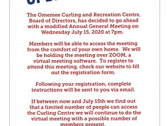 Notice for Annual General Meeting July 15, 2020 at 7:00pm