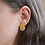 Thumbnail: Mustard Yellow and Gold Polka Dot Stud Earrings
