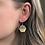 Thumbnail: Polka Dot and 14k Gold Hexagon Dangle Earrings