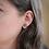 Plum purple and gold stud earrings, teardrop stud earring, hypoallergenic studs, titanium earrings
