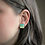Thumbnail: Turquoise Blue and Gold Flake Square Stud Earrings