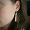 Thumbnail: Steel Blue and Gold Bar Dangle Earrings