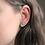 Thumbnail: Sage Green and Rose Gold Stud Earrings