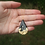 Thumbnail: Black and Gold Teardrop Necklace