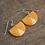 Geometric mustard yellow earrings with 14k gold ear wires
