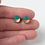 Thumbnail: Copper and Teal Circle Stud Earrings