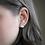 Thumbnail: Geometric Jade Green, Gray, and Copper Stud Earrings