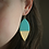 Thumbnail: Turquoise & Gold Statement Earrings