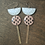 Thumbnail: Pink and Gray Polkadot Dangle Earrings