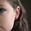 Thumbnail: Dainty Black and Gold Flake Stud Earrings