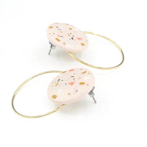 Blush Pink Terrazzo Earrings