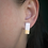Thumbnail: White and Gold Bar Studs