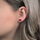 Thumbnail: Maroon Red and Copper Stud Earrings