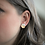 Thumbnail: White and Gold Stud Earrings - Hexagon Studs