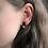 Thumbnail: Black and Copper Bar Stud Earrings