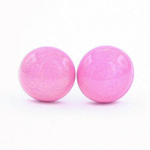 Dainty Hot Pink Stud Earrings
