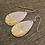 Thumbnail: Large Pink and Gold Flake Drop Earrings