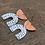 Thumbnail: Modern Polka Dot and Copper Arch U Dangle Earrings