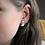 Thumbnail: Gray and Silver Moon Stud Earrings