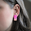 Thumbnail: Pink Ombre and Copper Stud Earrings