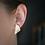 Thumbnail: White and Gold Geometric Studs