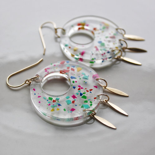 Clear Confetti Earrings