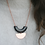 Thumbnail: Hammered Copper and Black Geometric Pendant Necklace
