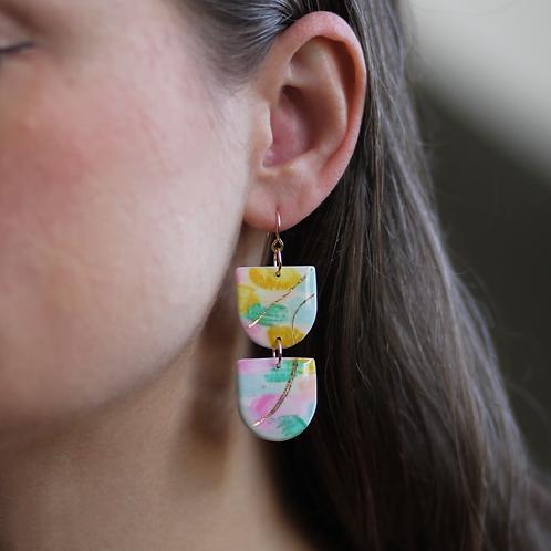 Watercolor Dangle Earrings