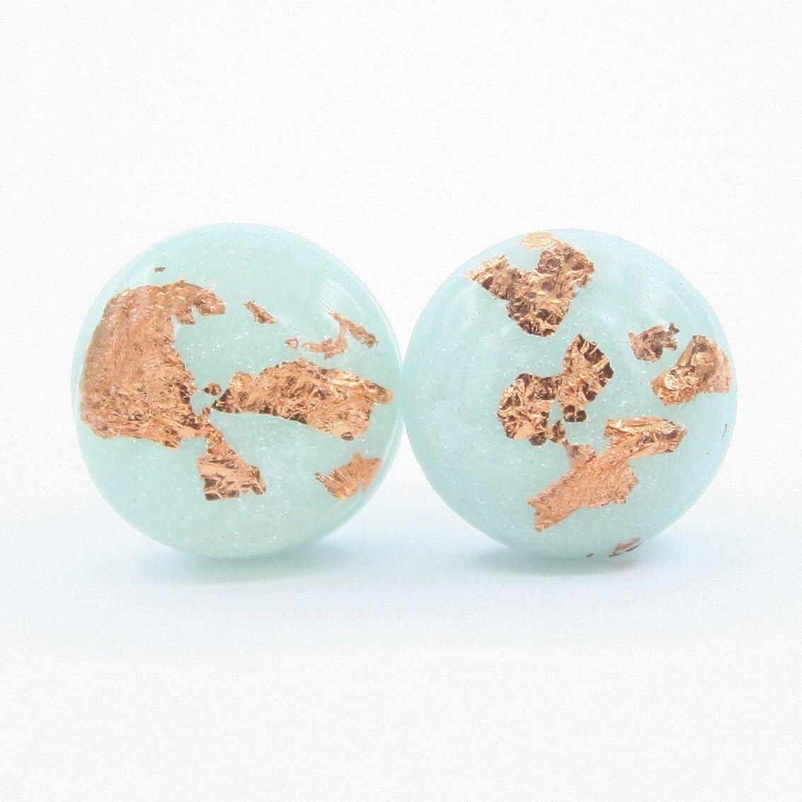 Handmade Easter polymer clay stud earrings