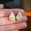 Thumbnail: Blue Gold Flake Drop Studs